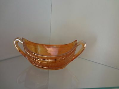 oval shaped carnival glass bowl