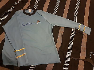 *updated* Signed Leonard Nimoy Spock Star Trek Top + Coa/extra Info/signatures
