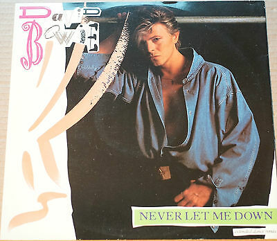 "Rare David Bowie Never Let Me Down 12"" 45RPM Extended Dance Mix EX- 4 Track"