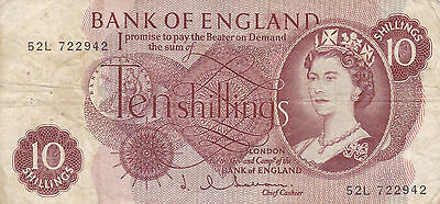 One Ten Shilling note, Bank of England 52L 722942