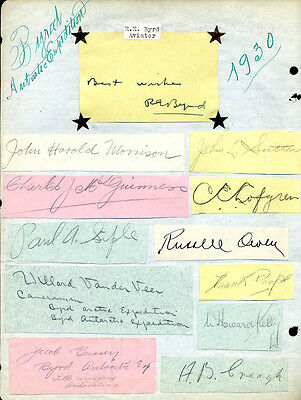 Richard E. Byrd - Autograph Sentiment Signed 1930 With Co-Signers