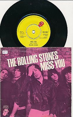 """THE ROLLING STONES - Miss You / Far Away Eyes - 7"""" 45 rpm single"""