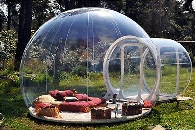 Bubble Tent. Inflatable Outdoor Bubble Tent. Transparent Stargaze Igloo Tent.