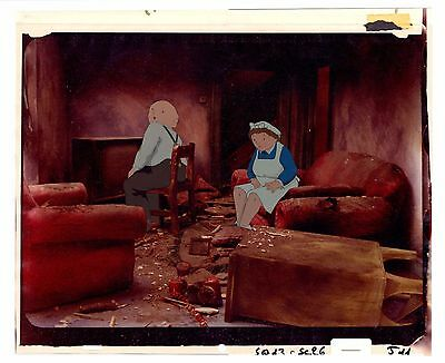 When The Wind Blows - 2 x Production Animation Cels & Production Background 1986