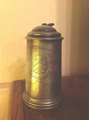 1864 Pewter Rowing Tankard New College Oxford