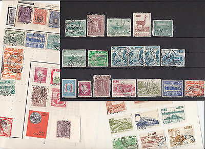 Stamps Peru removed from old albums see all scans