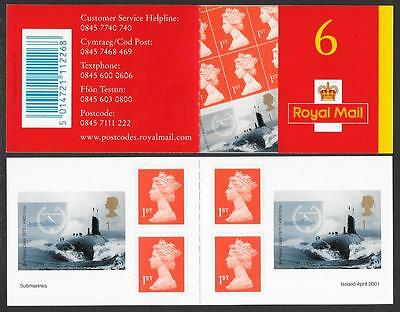 PM2, 6 x 1st, Royal Navy Submarines booklet,