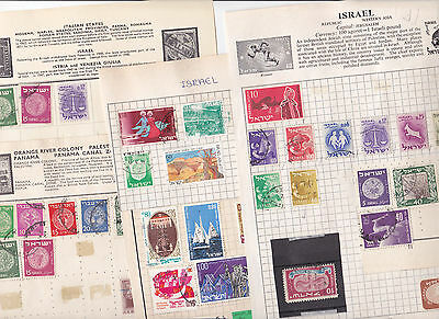 Stamps Israel removed from old albums see all scans