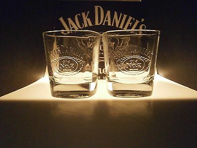 Jack Daniels Glass X 2 New/Unused EMBOSSED