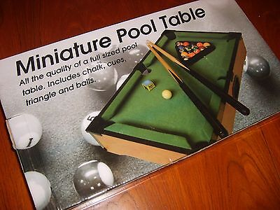 Miniature Table Top Pool Table complete with accessories