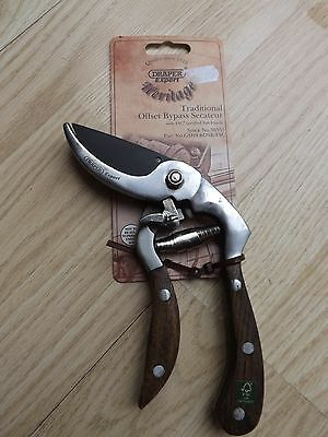 Draper Expert Heritage Traditional Offset Bypass Secateur With Ash Handle