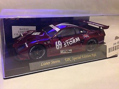 FLY LISTER STORM #69 SLOT CAR UK SPECIAL EDITION RED, Mint, Not Run
