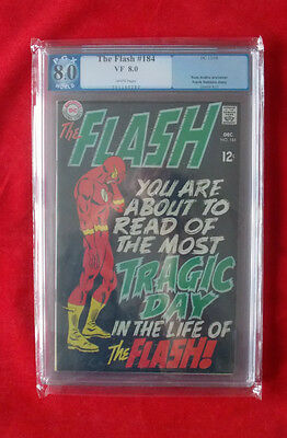 DC The Flash No 184 -1968- ROSS ANDRU -  PGX 8.0 VF WHITE PAGES