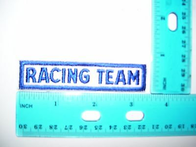 2 patches embroidered racing team