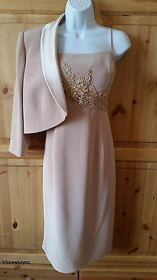 John Charles Rrp £595 Mother Of The Bride Jacket Dress Outfit Size 16 Formal