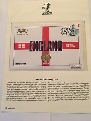 England Football First Day Coin Cover - £1 One Pound Coin