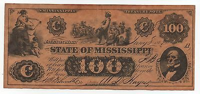 State Of Mississippi 100 Dollars Copy Fake Note Look Scans