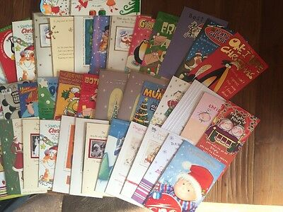 Joblot Of Lovely Christmas Cards x40 Without Envelopes.