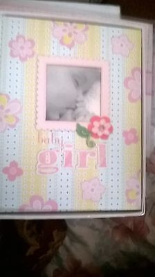 C. R. Gibson Baby Girl w/  Beautiful Flower Memory Book NEW C R Gibson