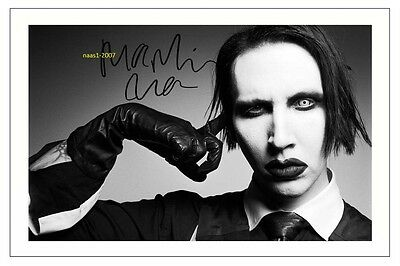 4x6 SIGNED AUTOGRAPH PHOTO PRINT OF MARILYN MANSON #42