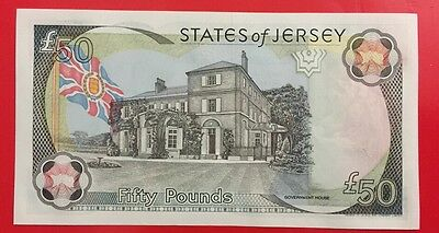 States Of Jersey Uncirculated £50 note. Old Issue.