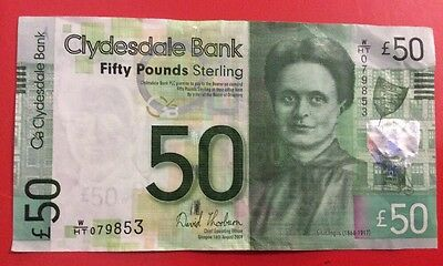 A Clydesdale Bank £50 Note EF. 2009.