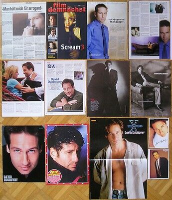 David Duchovny - Clippings / Poster ** The X-Files * Akte X **