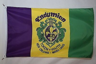 New Krewe of Endymion Parade Route New Orleans Mardi Gras Flag 3x5