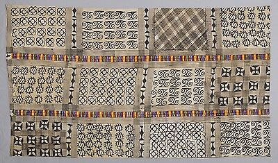 AFRICAN art ADINKRA ASHANTI CLOTH GHANA FABRIC HAND STAMPED
