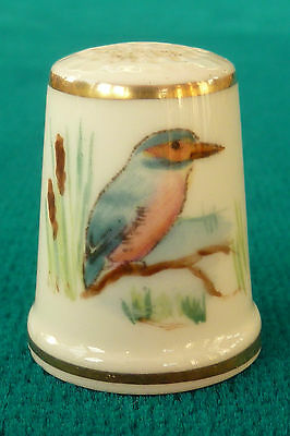 Lovely Royal Worcester Hand Painted Bird Thimble Signed P She