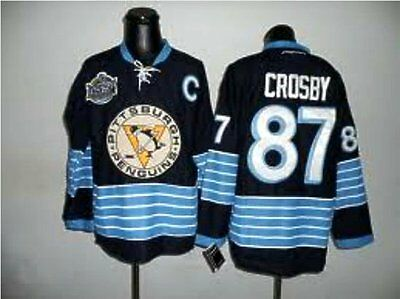 BNWT Pitts. Penguins  #87 Crosby Dk Blue 2011 Winter Classic Hockey Jersey  XL