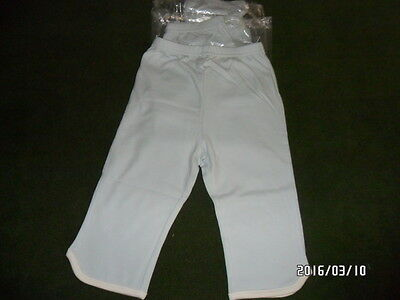 3 New Pair of Tingo Organic Cotton Boy's Blue Pants  Bottom Size 18 to 24 Months