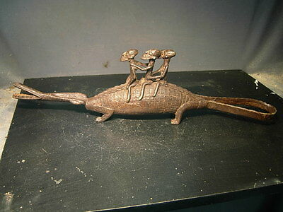 Dogon Bronze Alligator, Mali.