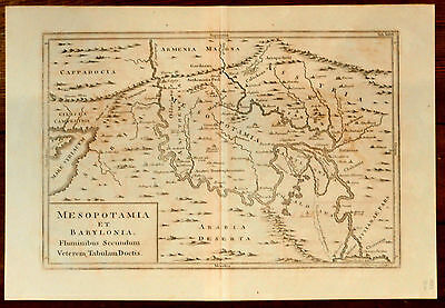 Map of Mesopotamia and Babylonia 1831 by WH Toms steel engraving original rare
