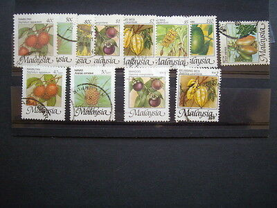 Malaysia 1986 fruit series + some later sen/RM versions; Used