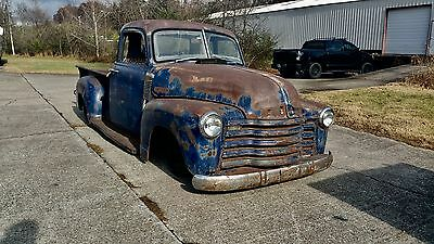 1952 Chevy 3100 pick up truck rod American patina bagged Chevrolet 5 window