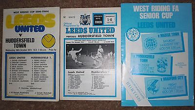 LEEDS UNITED v HUDDERSFIELD West Riding Cup Rare Football Programmes YORKSHIRE