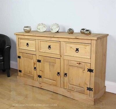Corona Mexican Pine Large Sideboard 3+3  Buffet Rapid Delivery