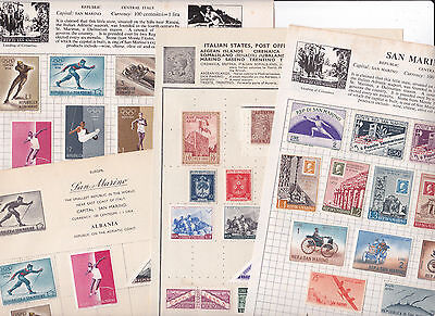 Stamps San Marino removed from old albums see all scans