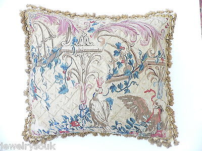 ANTIQUE 18th CENTURY FRENCH BEAUVAIS TAPESTRY PILLOW