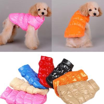 Warm Winter Pet Dog Small Puppy Clothes Padded Vest Fleece Jacket Coat Costume