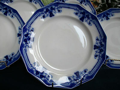 JOHNSON BROTHERS ROYSTON-FLOW BLUE (c.1910) SALAD PLATE(S)- EXCELLENT!!