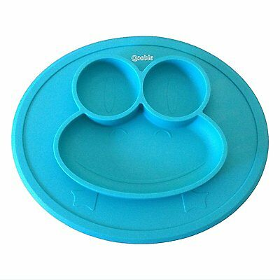 Silicone Placemat Plate Dish Bowl Kids Toddler Baby Feeding Mat Highchair Tray