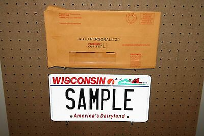 Wisconsin - Sample - License Plate - With Original Mailer