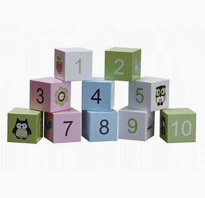 Wooden Blocks with numbers (10 pieces)