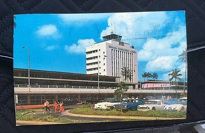 HAWAII 1965 Honolulu International Airport Old Cars VINTAGE 50TH STATE Excellent