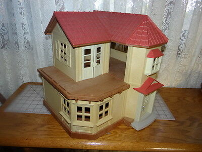 Calico Critters Cloverleaf Townhome Doll House Town House EPOCH Toy  Sylvania
