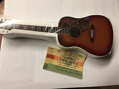 who concert t-shirt guitar and ticket-new