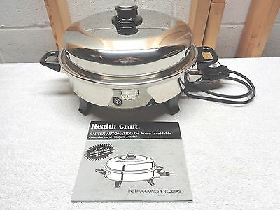 HEALTH CRAFT Stainless Steel Automatic Skillet~Oilcore Construction~K7273
