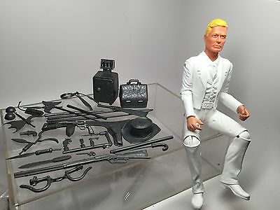 Marx Johnny West White Sheriff Goode, Sam Cobra, Silver Accessories, New